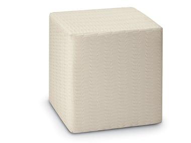 Pouf cubo in tessuto jacquard Trevira CS ODEN | Pouf
