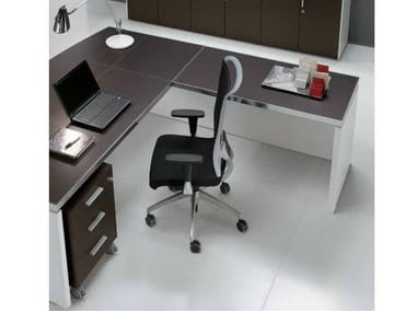 Beau L Shaped Wooden Office Desk With Drawers ODEON | L Shaped Office Desk.  Castellani.it