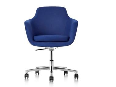 Cadeira operativa giratória de tecido com rodízios SAIBA | Cadeira operativa