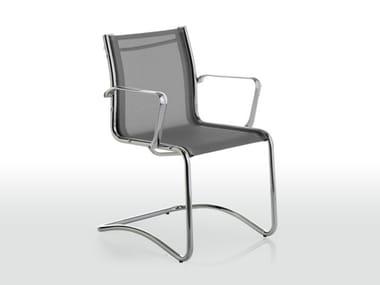 Bürostuhl aus Netzstoff mit Armlehnen NET | Bürostuhl