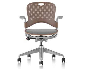 Nylon® office chair with 5-Spoke base with armrests CAPER | Office chair with armrests