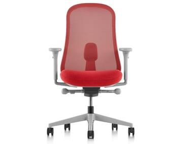 Sedia ufficio ergonomica girevole con braccioli LINO | Sedia ufficio con braccioli
