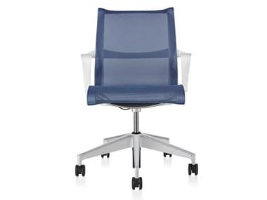Cadeira operativa ergonômica giratória de tecido com braços SETU | Cadeira operativa com braços