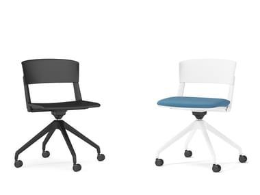 Swivel polypropylene office chair with castors YUGEN   Office chair with castors