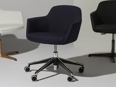 Höhenverstellbarer drehbarer Bürostuhl mit Rollen VOGUE | Bürostuhl mit Rollen