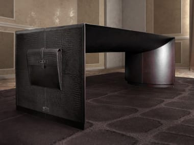 Rectangular leather executive desk MERCURY