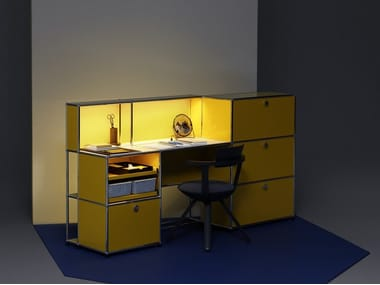 Sectional office desk with drawers USM HALLER E | Office desk