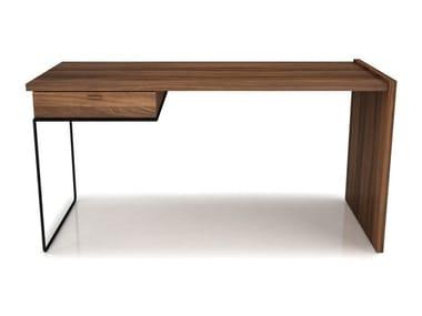 Walnut secretary desk with drawers LINEA | Secretary desk with drawers