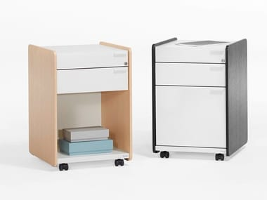 Office drawer unit with castors SIDE_S | Office drawer unit