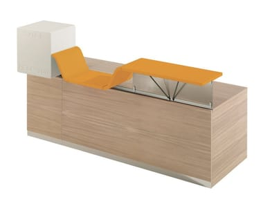 Modular Reception desk CAN I HELP YOU | Office reception desk