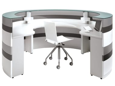 Modular Office reception desk TWIST | Office reception desk