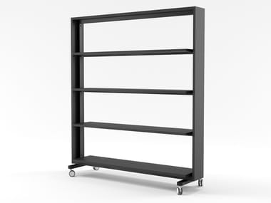 Open MDF office shelving with castors WALKER | Office shelving