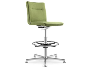 Fabric office stool with 5-Spoke base SEANCE CARE | Office stool