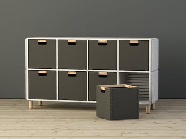 Wooden office storage unit SABINE | Office storage unit