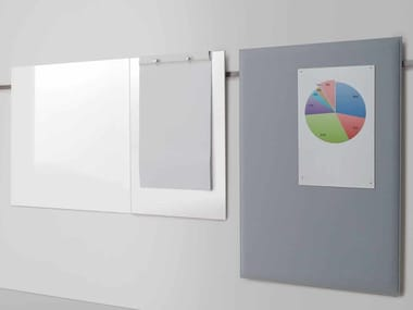 Magnetic wall-mounted office whiteboard MEETING | Office whiteboard
