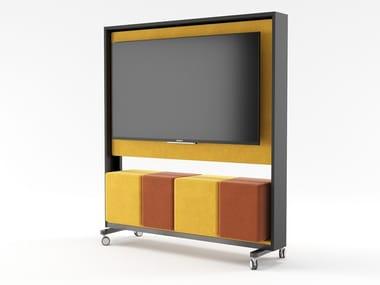 MDF TV cabinet with castors WALKER | TV cabinet