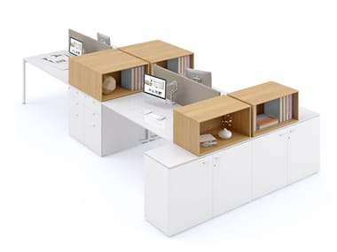Multiple office workstation PUZZLE | Office workstation
