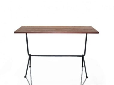 Rectangular walnut table OFFICINA | Walnut table