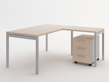 L-shaped melamine-faced chipboard workstation desk OGI_Y | L-shaped office desk