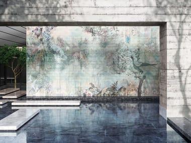 Digital printing wallpaper with floral pattern OKINAWA