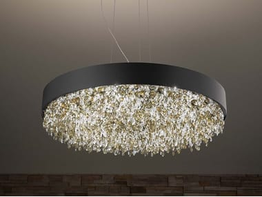 LED metal pendant lamp with crystals OLÁ S6 90