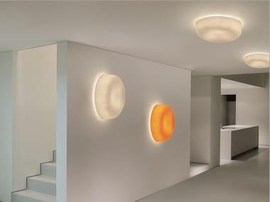 Lampada da parete / lampada da soffitto in fibra di vetro OLA SLIM | Lampada da parete