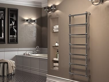 Vertical wall-mounted towel warmer OLD FASHION