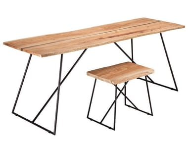 Rectangular olive wood table OLD TIMES | Table