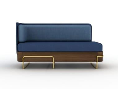 Sled base 2 seater fabric sofa OLGA | Sofa