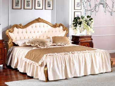 Bed with tufted headboard OLIMPIA B | Bed