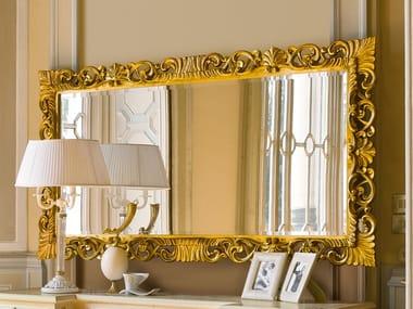 Rectangular framed gold leaf mirror OLIMPIA B | Rectangular mirror