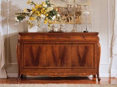 Walnut sideboard with doors OLIMPIA B | Sideboard