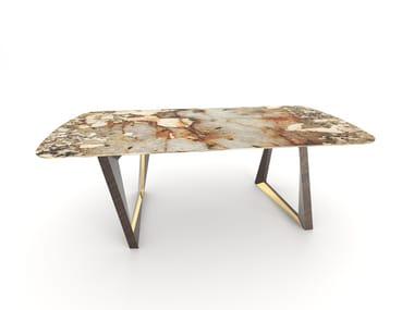 Rectangular granite dining table OLISIPPO