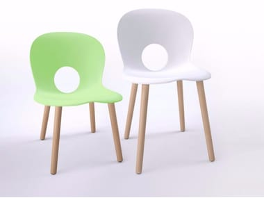Polypropylene kids chair OLIVIA WOOD BABY