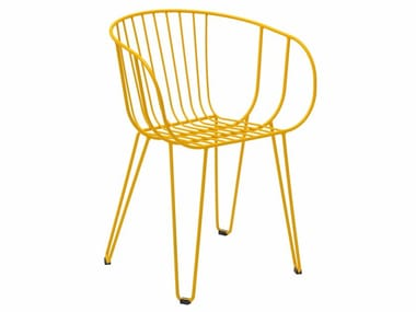Stackable galvanized steel garden chair OLIVO | Chair
