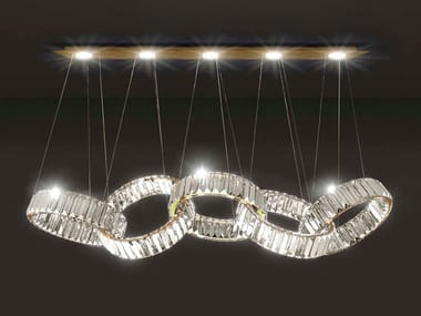 Lampada a sospensione a LED in cristallo OLYMPIA