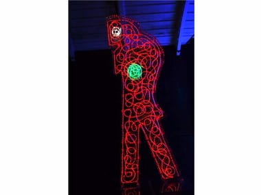 Plexiglass sculpture with light OMAGGIO A DEPERO 2010