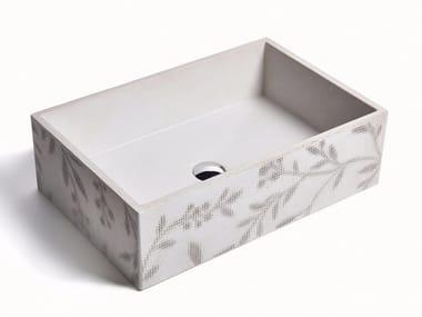 Vasque à poser rectangulaire en béton OMBRA