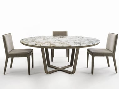 Round marble table OMEGA | Table