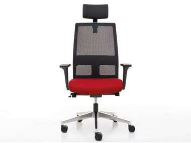 Swivel executive chair with headrest OMNIA | Executive chair