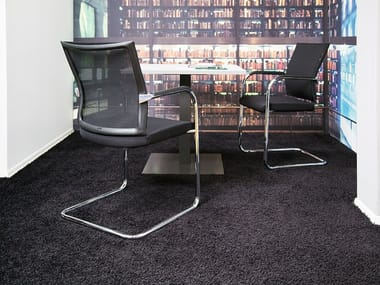 Cantilever chair with armrests ONE | Cantilever chair
