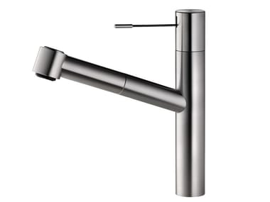 Stainless steel kitchen mixer tap with pull out spray ONO 10.151.033.700FL