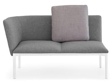 Almofada de tecido com estojo removível OORT | Almofada quadrada