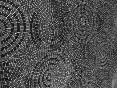 Marble mosaic OP'LAND WALL - NERO