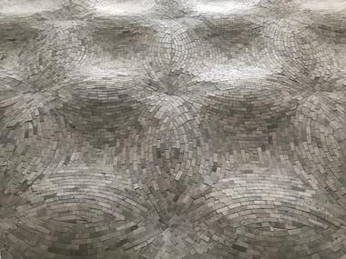 Marble mosaic OP'LAND WALL - THALA GREY