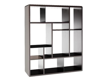 Open lacquered bookcase KNOX | Open bookcase