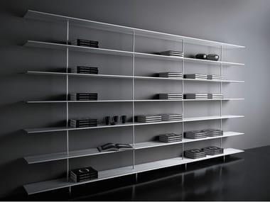 Biblioteca aberta de alumínio extrudado ZUMM | Biblioteca aberta