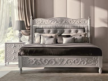 Bed double bed with upholstered headboard OPERA | Bed