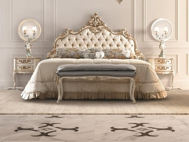 Upholstered bed with tufted headboard OPERA | Bed with tufted headboard