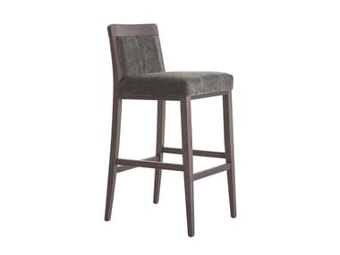 High beech stool with back OPERA BOHEME 49EI.i6